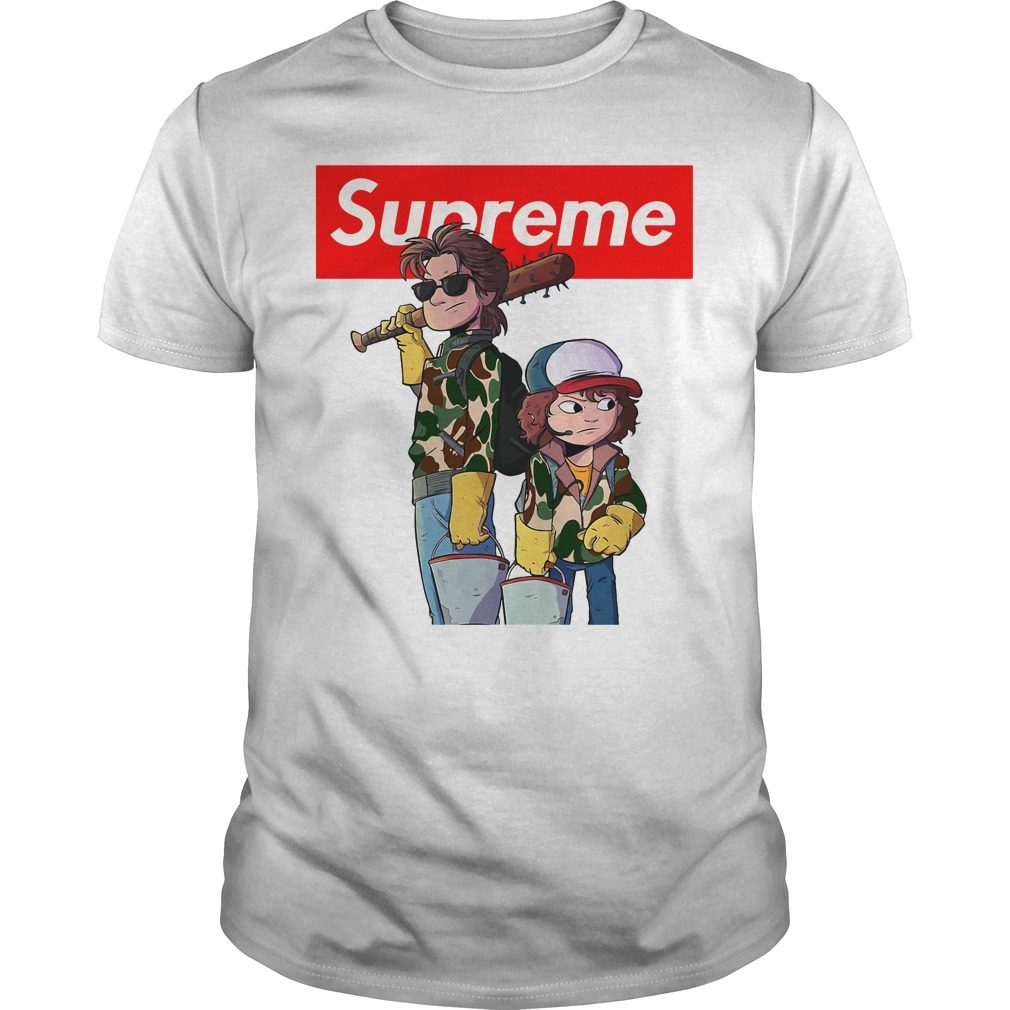 Stranger Things Supreme Steve And Dustin Shirt