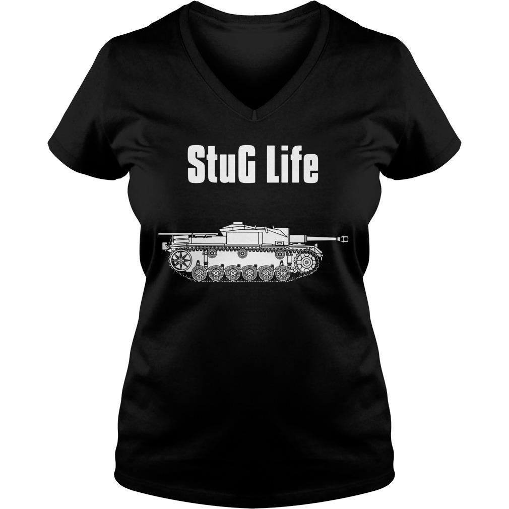 Stug Life Military History Visualized V Neck T Shirt