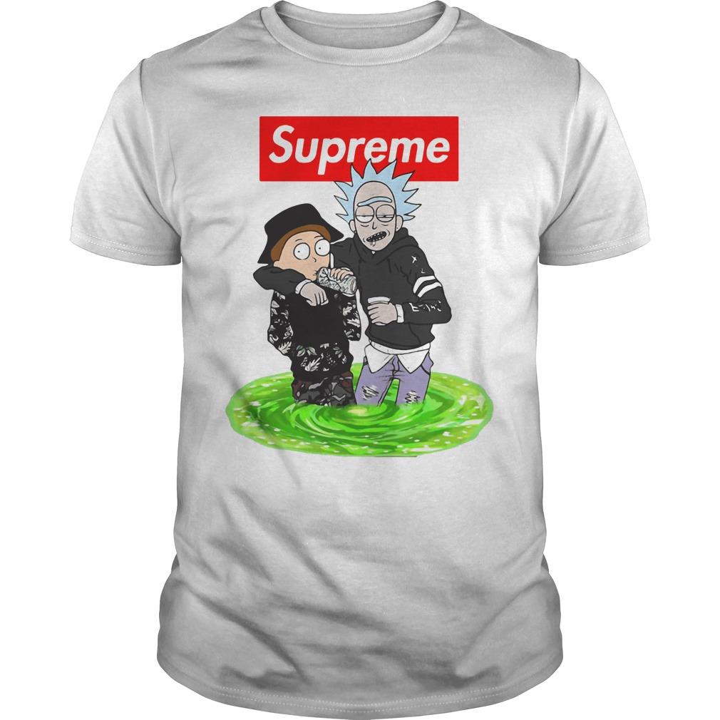 086ca85bd Supreme style Rick and Morty shirt