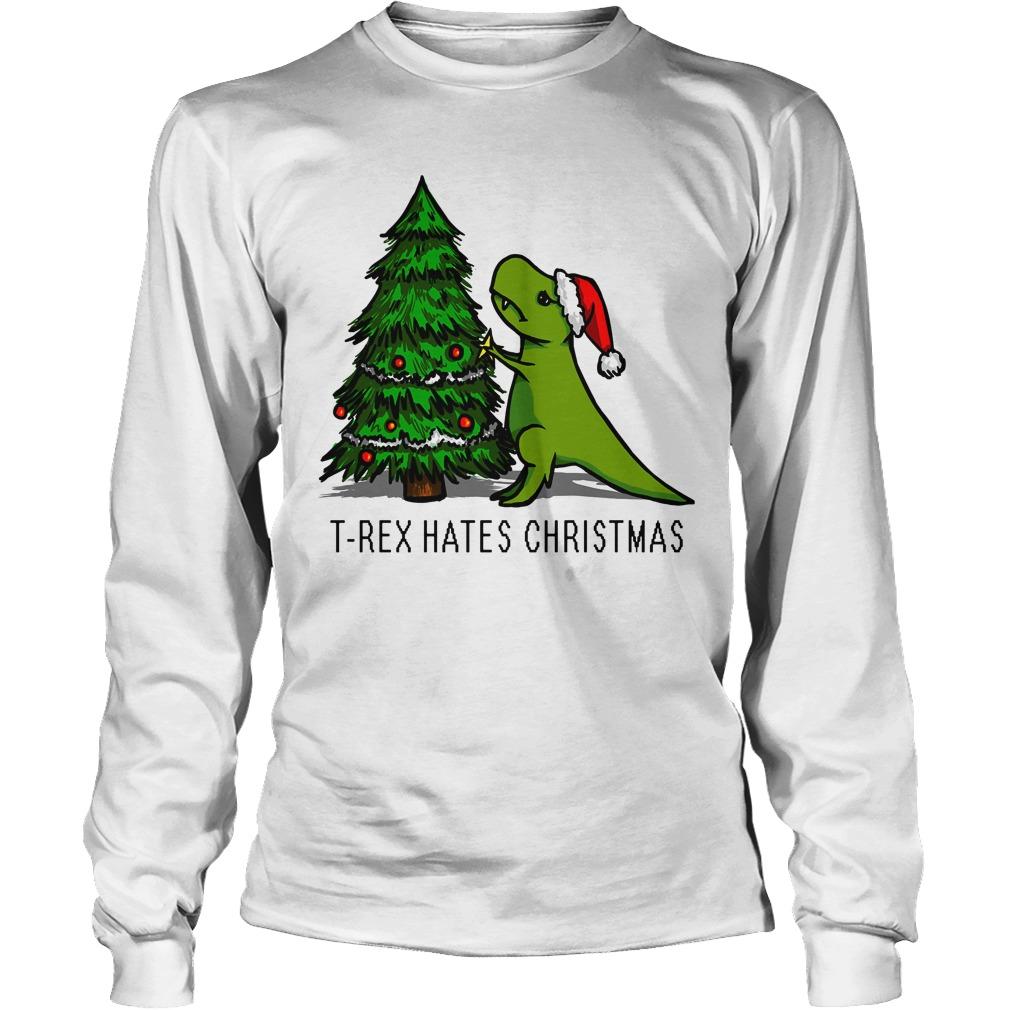 T Rex Hates Christmas Longsleeve Tee