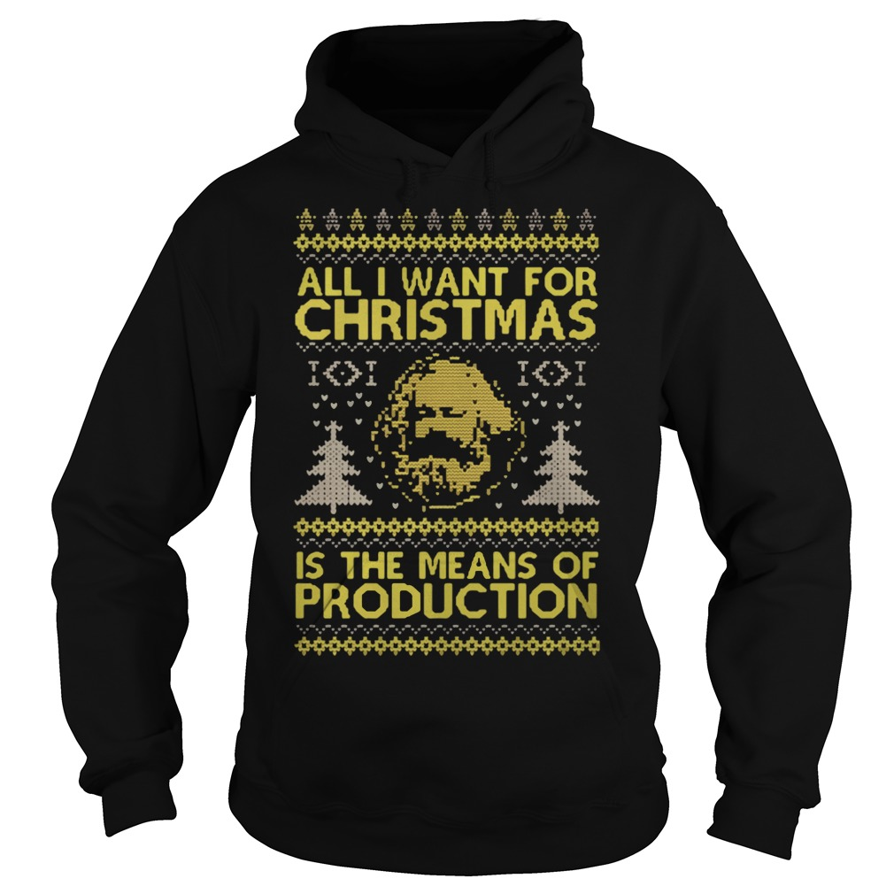 All I Want For Christmas Karl Marx Is The Mean Of Production Ugly Sweater