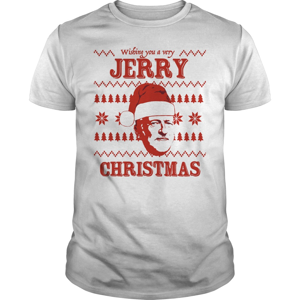 Wishing Jerry Christmas Ugly Guys Tee