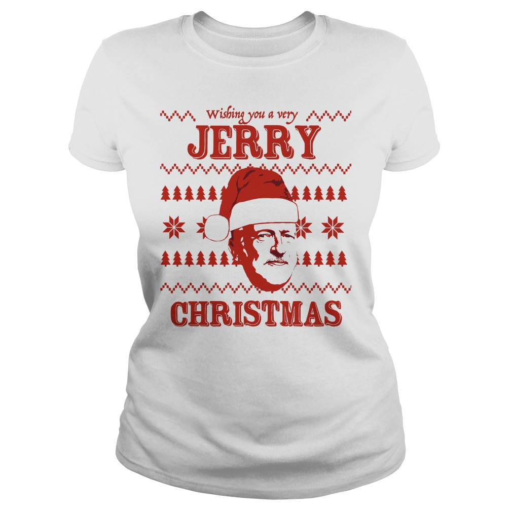 Wishing Jerry Christmas Ugly Ladies Tee