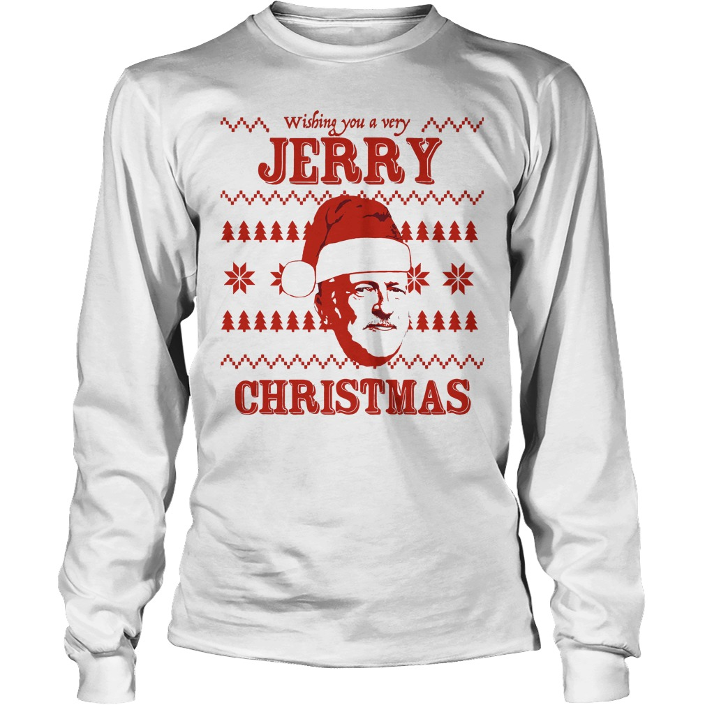 Wishing Jerry Christmas Ugly Longsleeve Tee