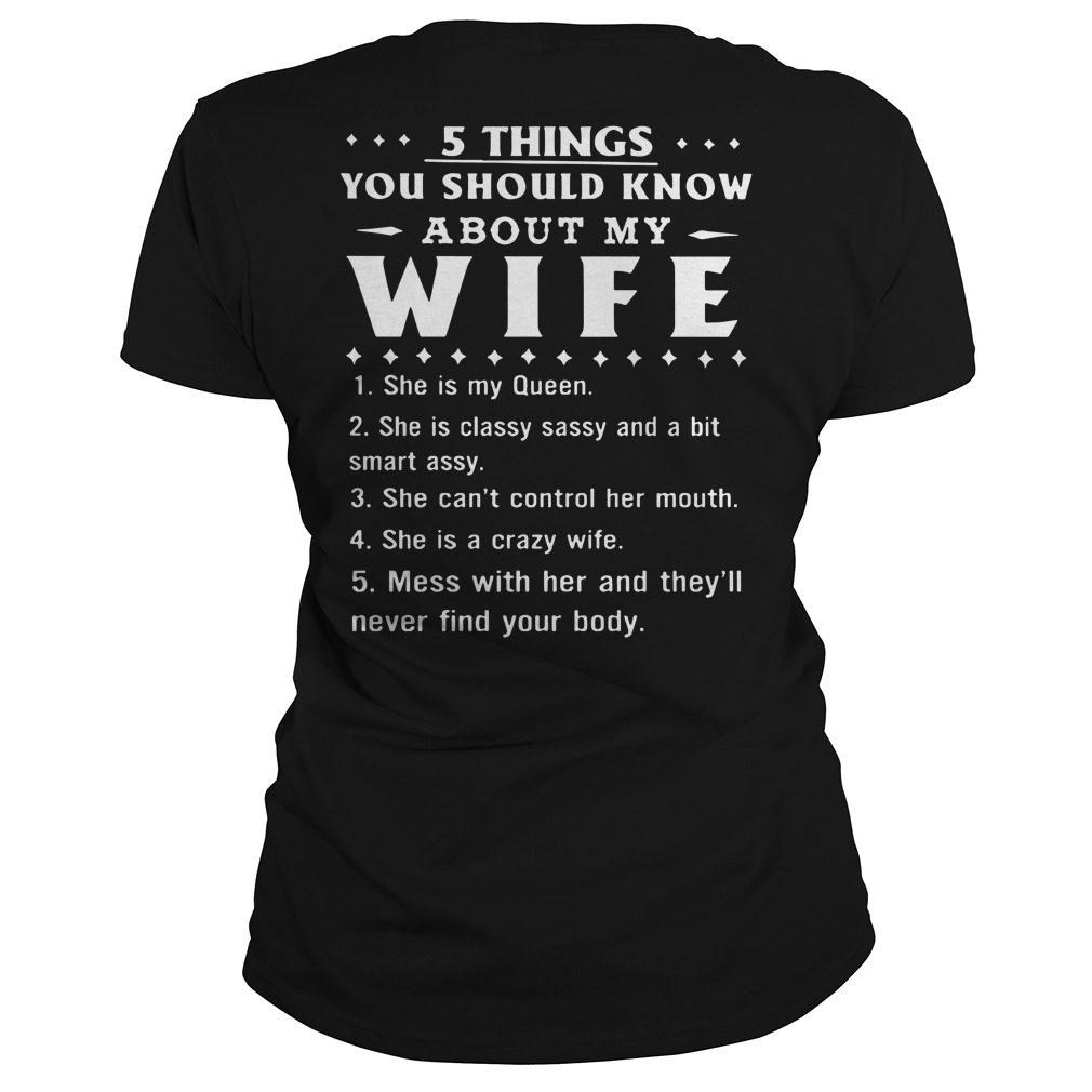 5 Things Know Wife Ladies Tee
