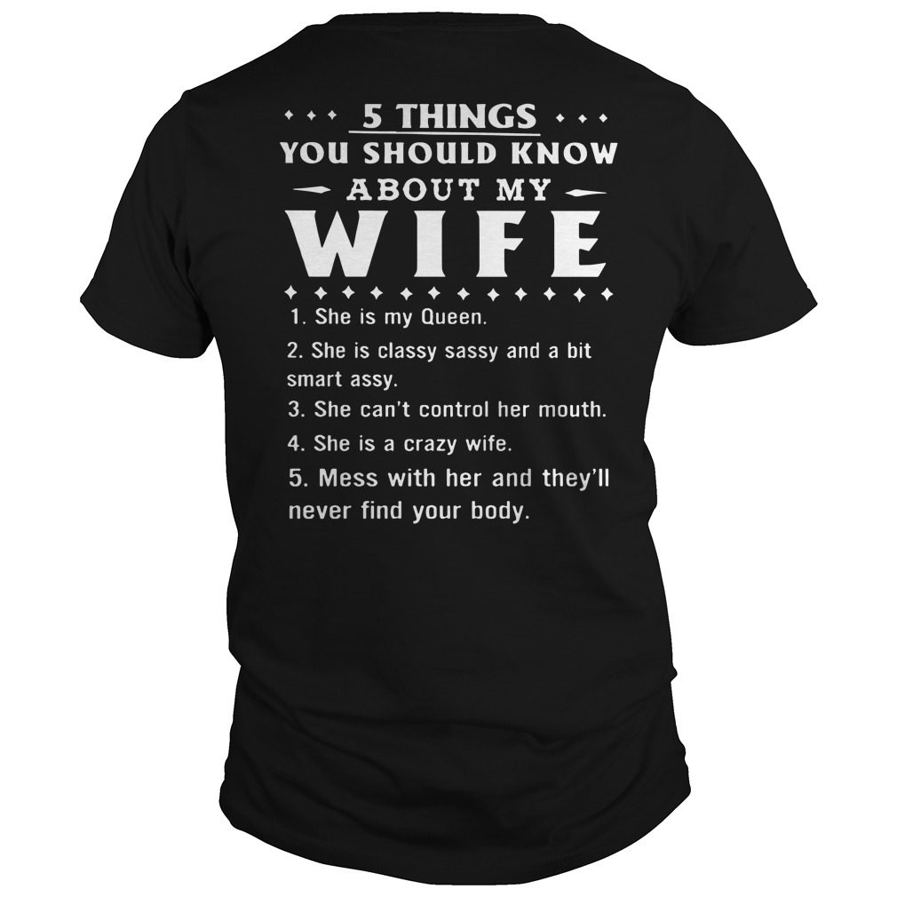 5 Things Know Wife Shirt