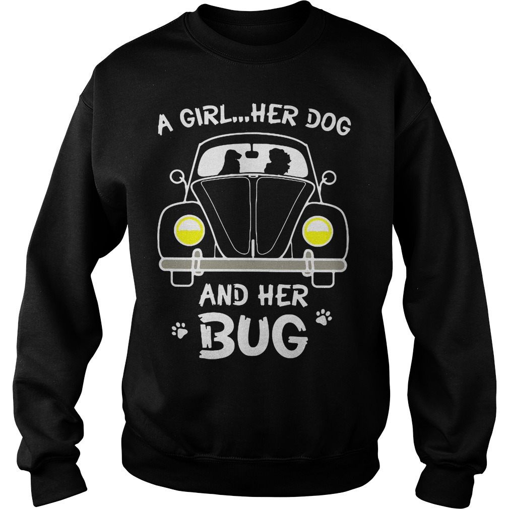 A Girl Her Dog And Her Bug Sweater