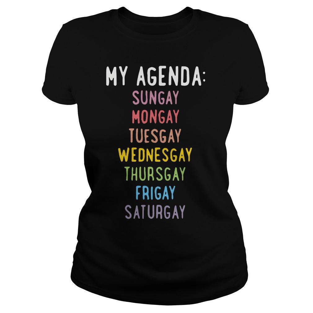 Agenda Sungay Mongay Tuesgay Wednesgay Thursgay Frigay Saturgay Ladies Tee