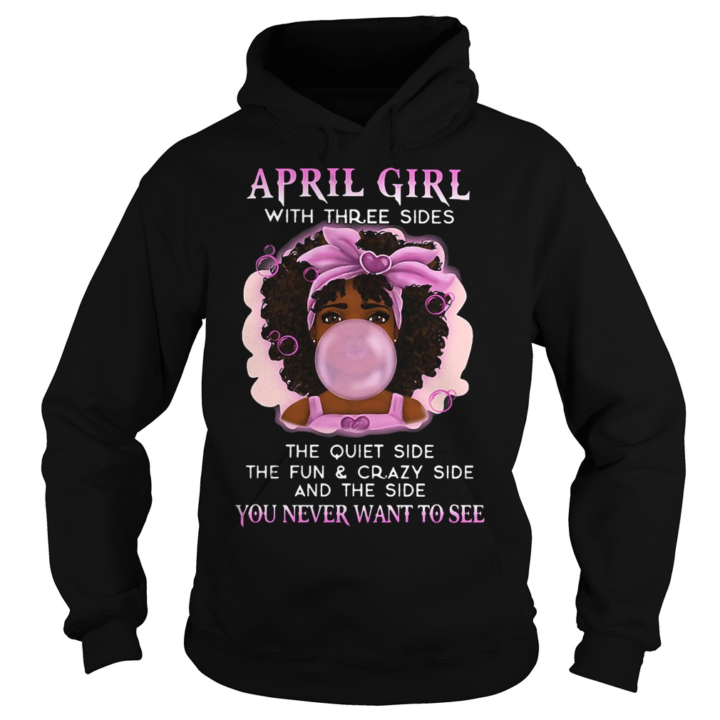 April Girl Three Sides Hoodie