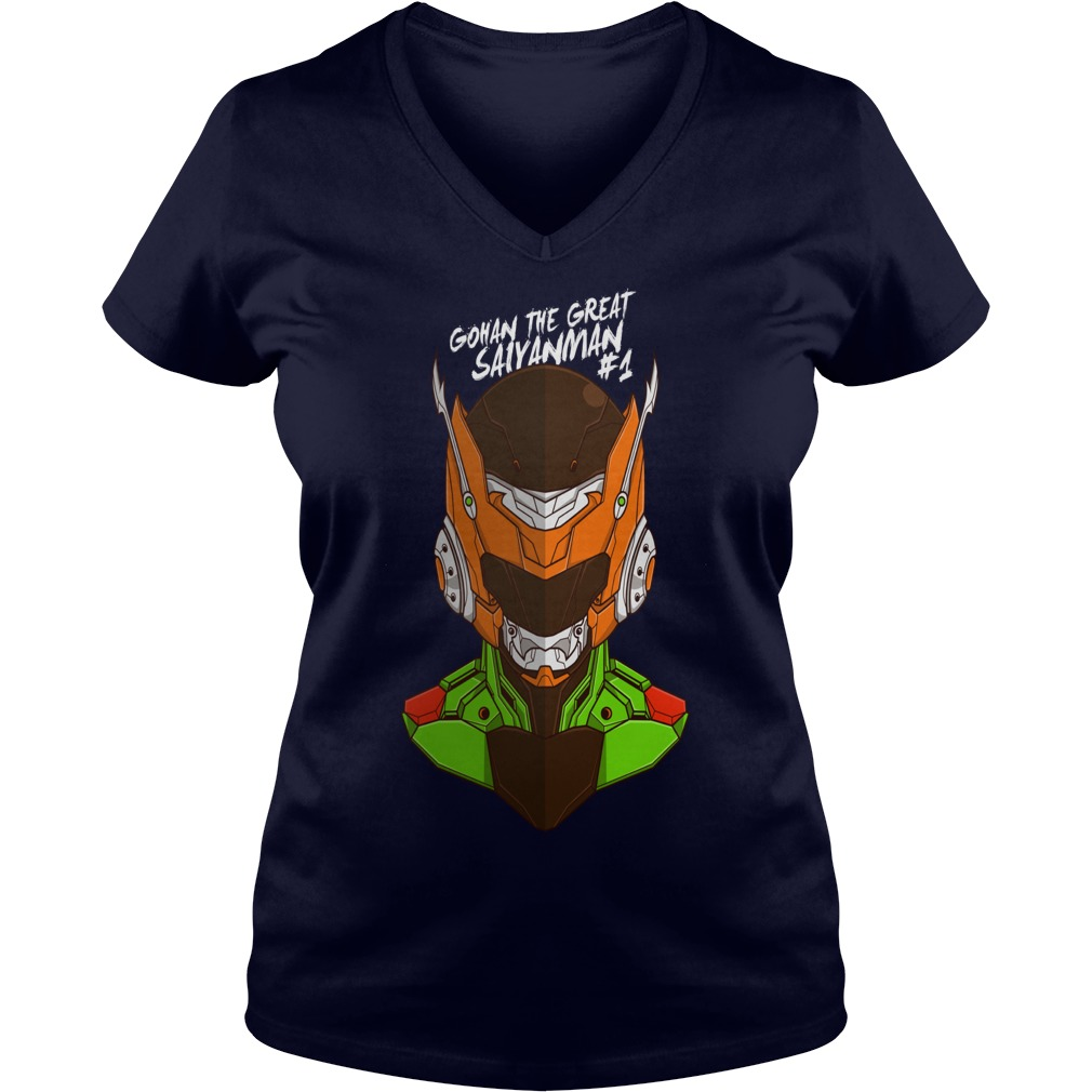 Awesome Tee Robo Gohan Anime Manga V-neck t-shirt