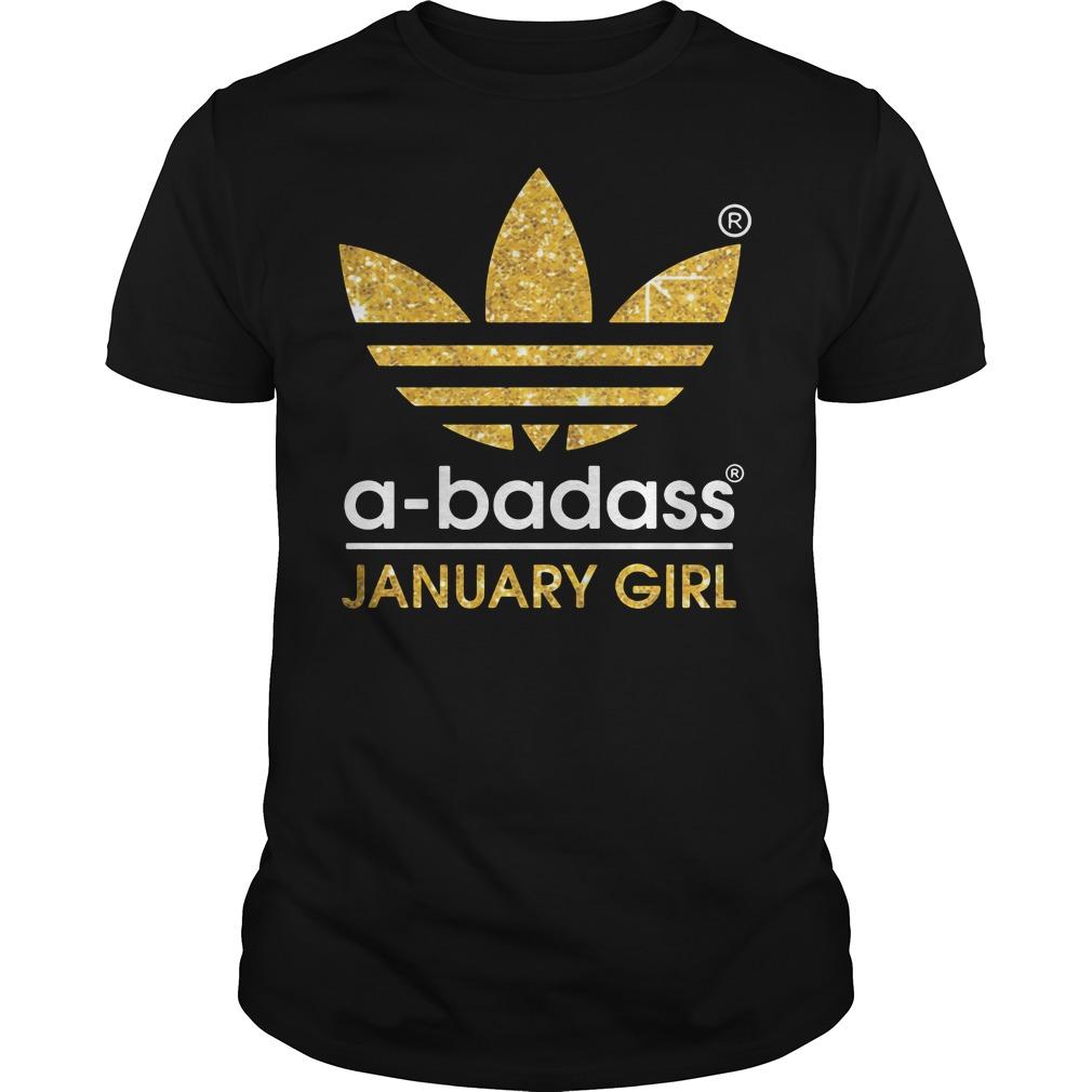 Badass January Girl Guys Shirt