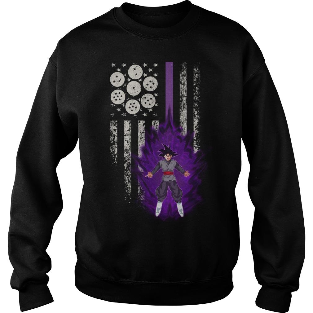 Black Goku American Flag Sweater
