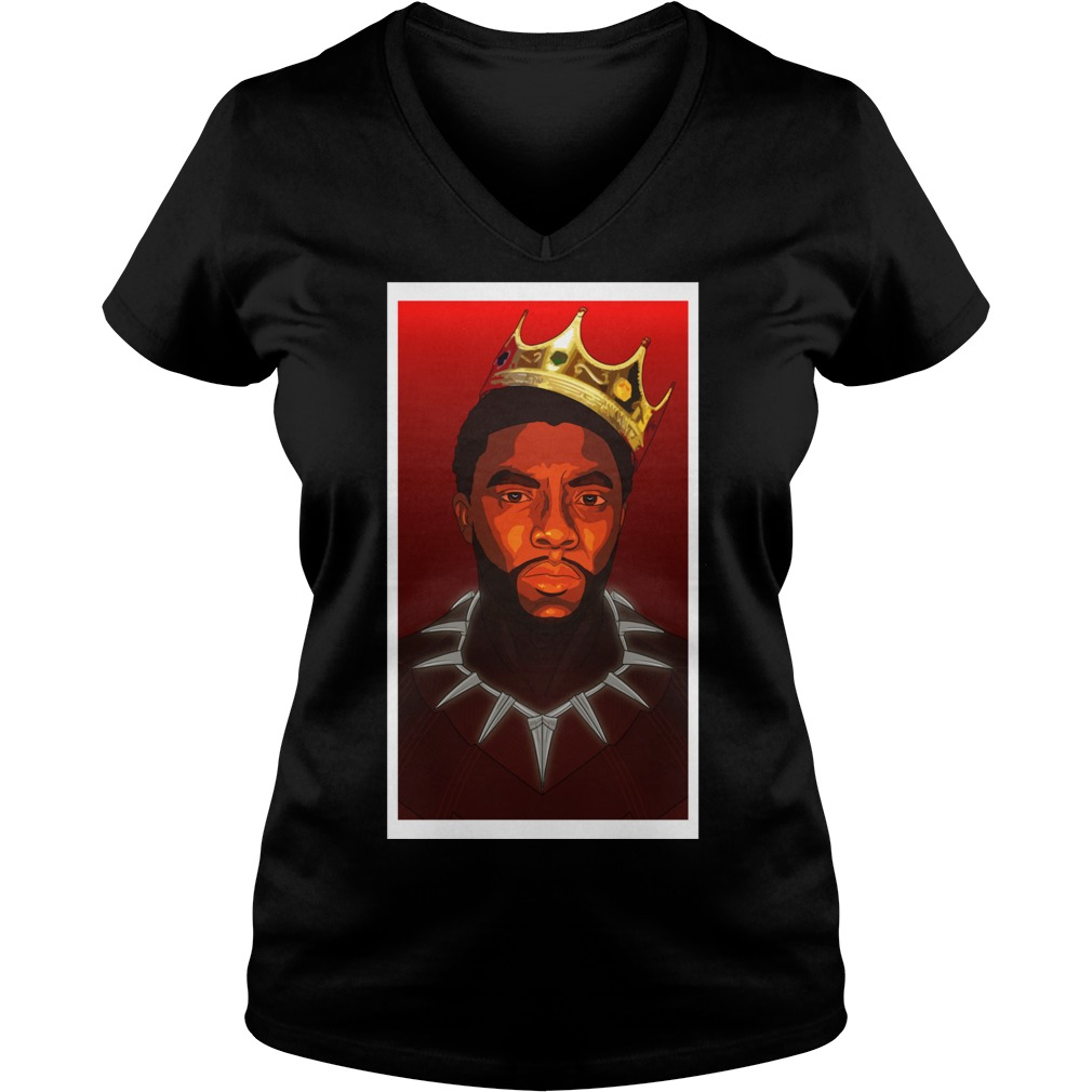 Black Panther Notorious B G Tri Blend V Neck T Shirt