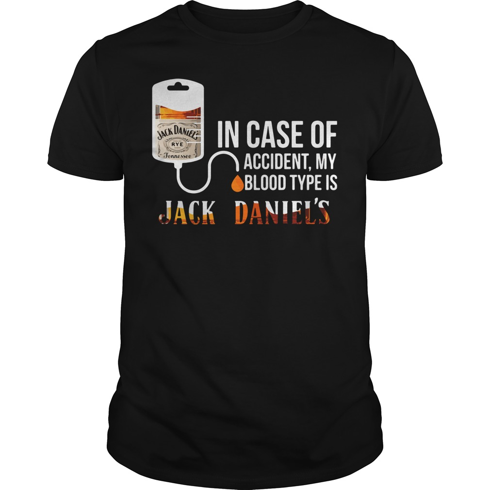 Case Accident Blood Type Jack Daniels Shirt