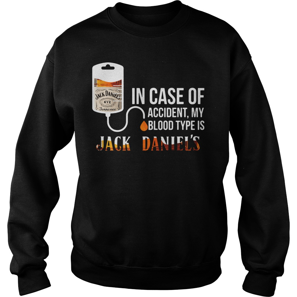 Case Accident Blood Type Jack Daniels Sweater