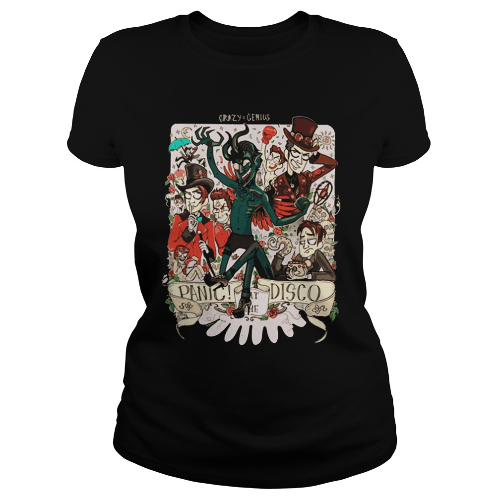 Crazy Genius Panic Disco Ladies Tee