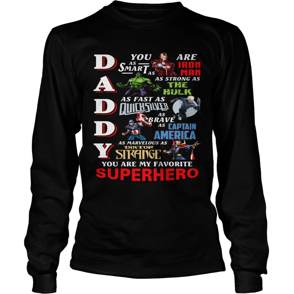 Daddy Favorite Superhero Longsleeve Tee