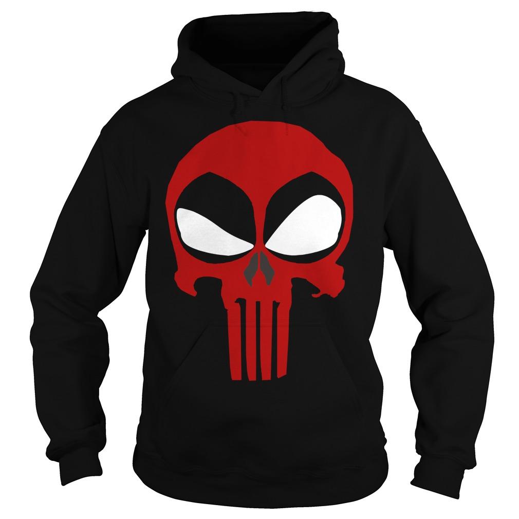 Deadpool Punisher Skull Rare Hoodie