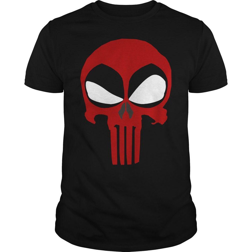 Deadpool Punisher Skull Rare Shirt