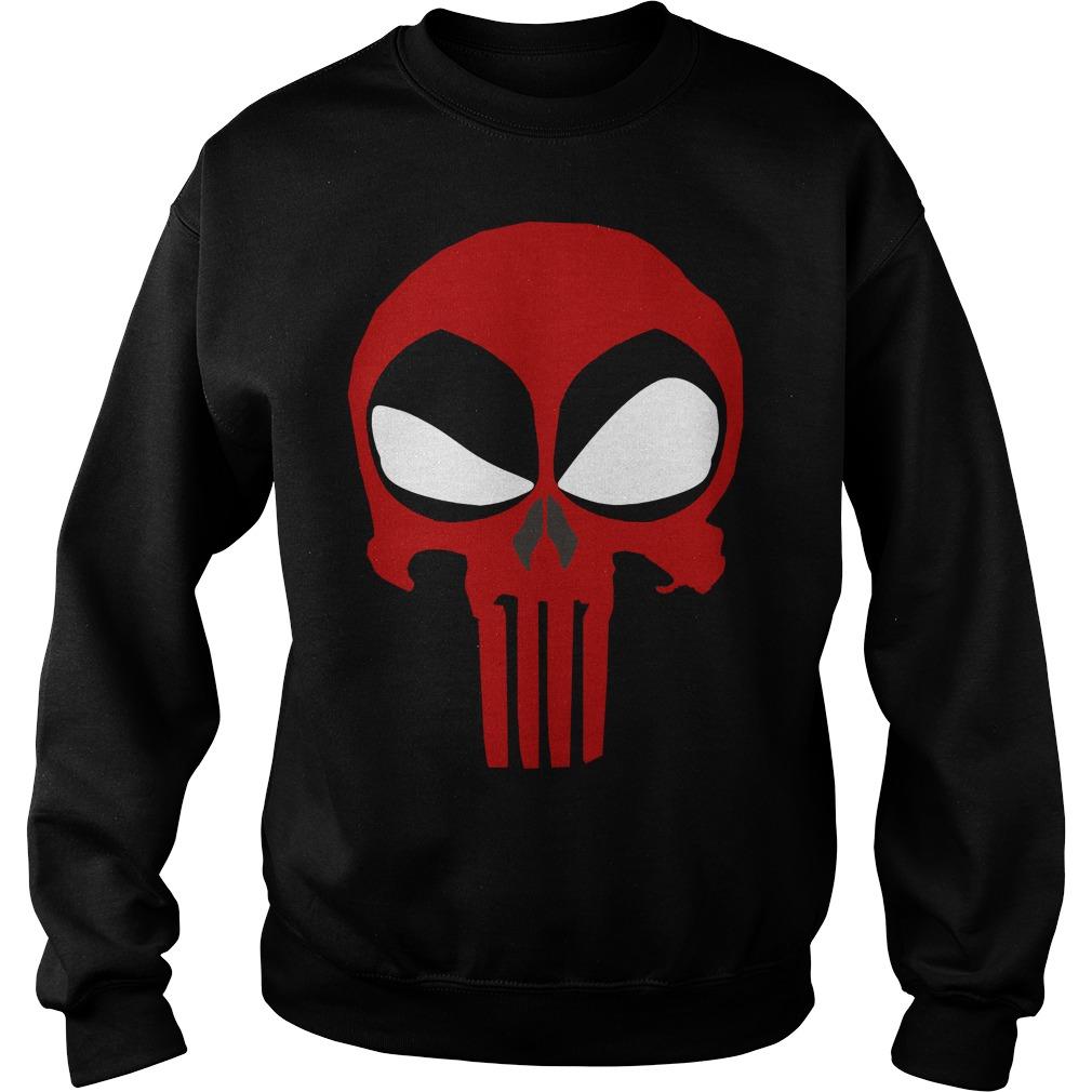Deadpool Punisher Skull Rare Sweater