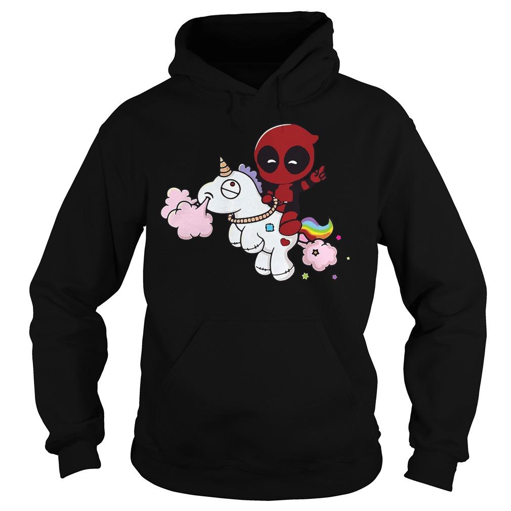 Deadpool Riding Unicorn Hoodie