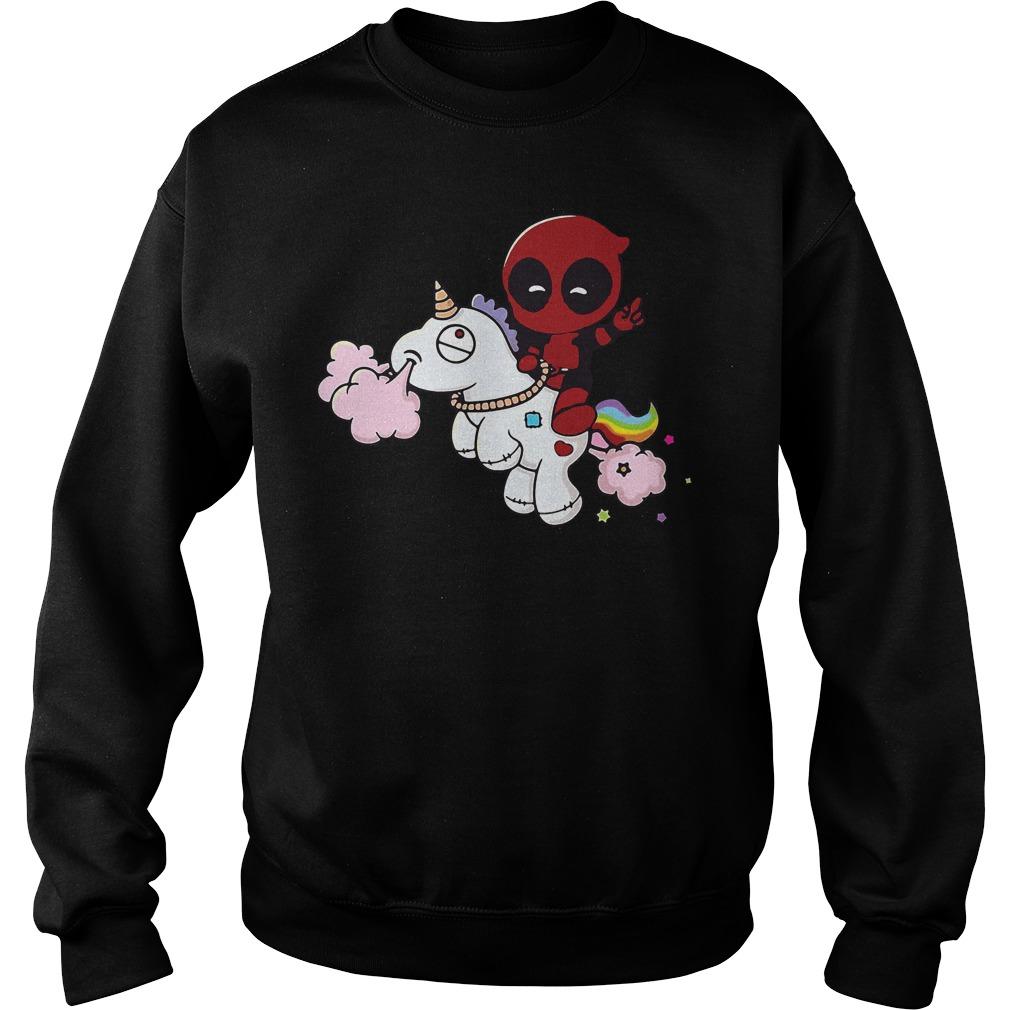 Deadpool Riding Unicorn Sweater