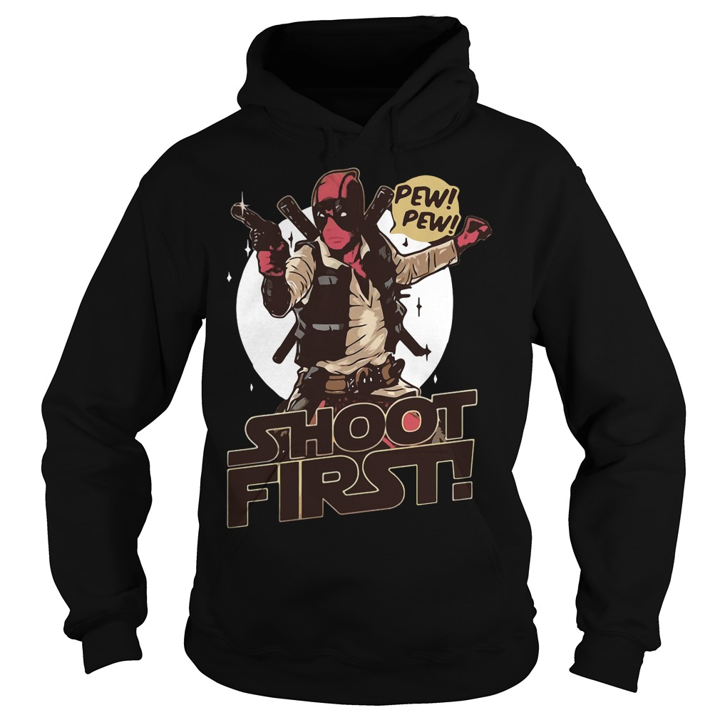 Deadpool Shoot First Marvel Funny Comic Book Hoodie