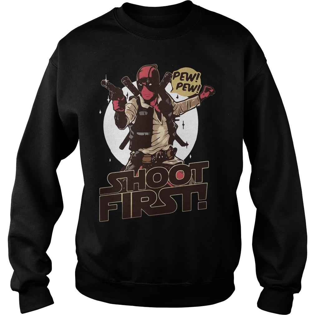 Deadpool Shoot First Marvel Funny Comic Book Sweater