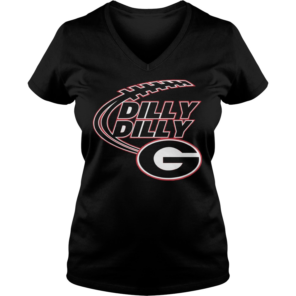 Dilly Dilly Georgia Bulldogs V-neck t-shirt