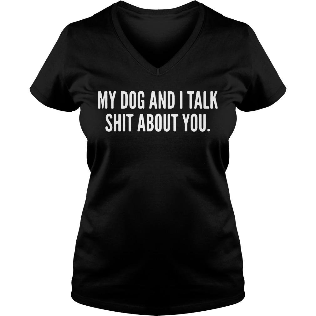 Dog Talk Shit V-neck-t-shirt