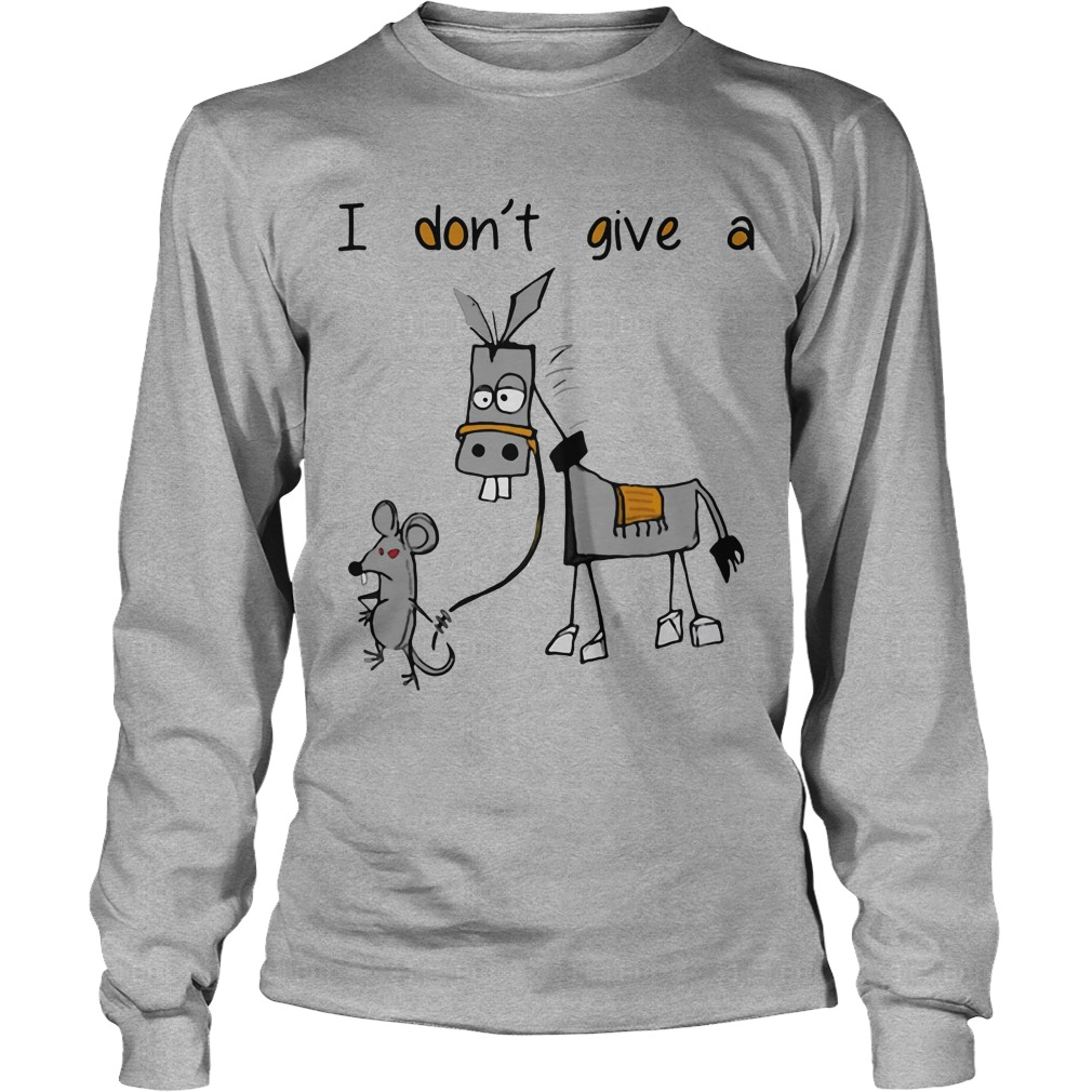 Dont Give Mouse Walking Donkey Longsleeve Tee