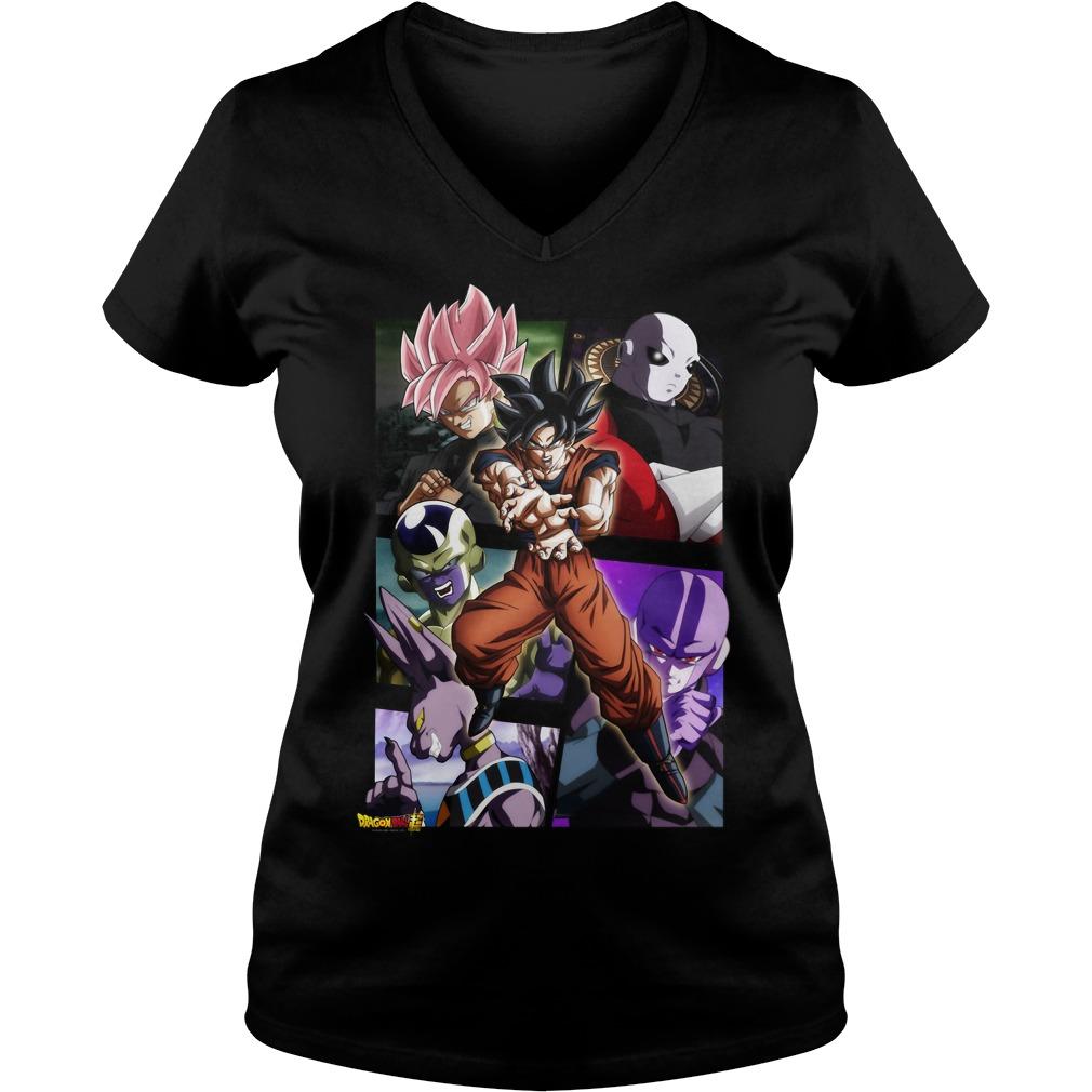 Dragon Ball Super Goku Beerus Hit Frieza Vs Jiren V-neck t-shirt