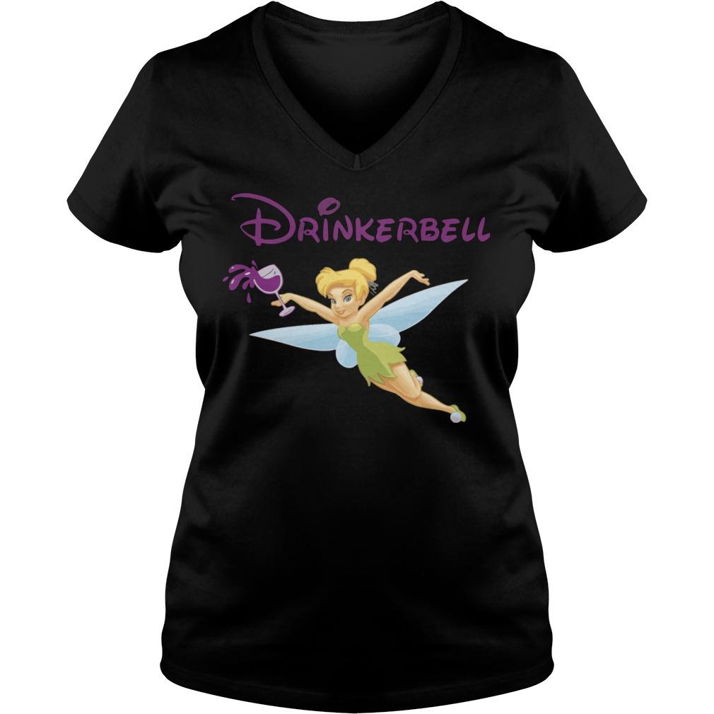 Drinker Bell Drinkerbell Drinking V-neck t-shirt