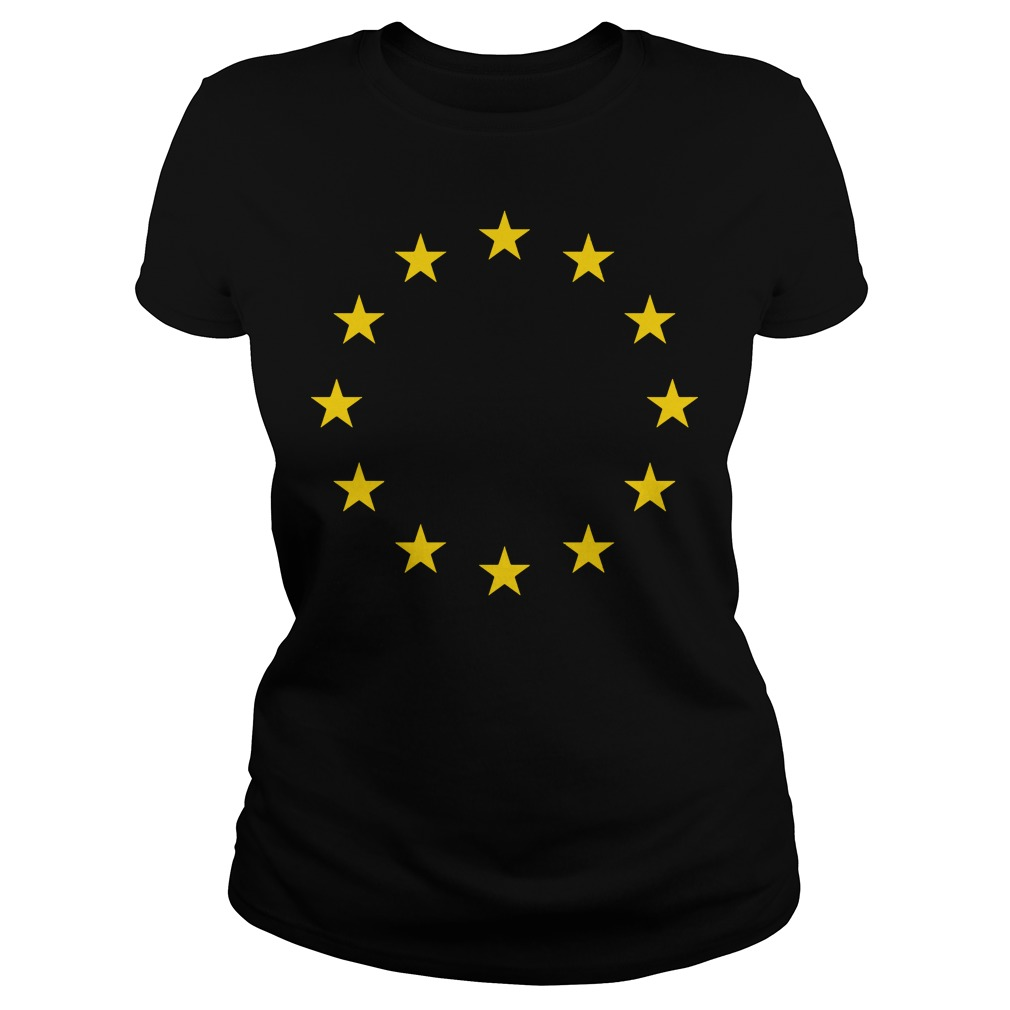 Europei Love European Union Eu Flag Ladies Tee