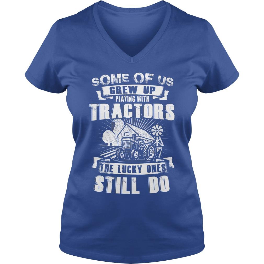 Farmer Lucky V-neck t-shirt