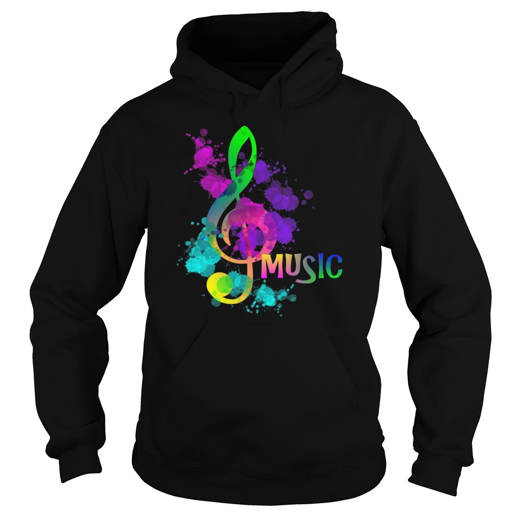 Funky Colorful Music Treble Clef Musical Note Hoodie