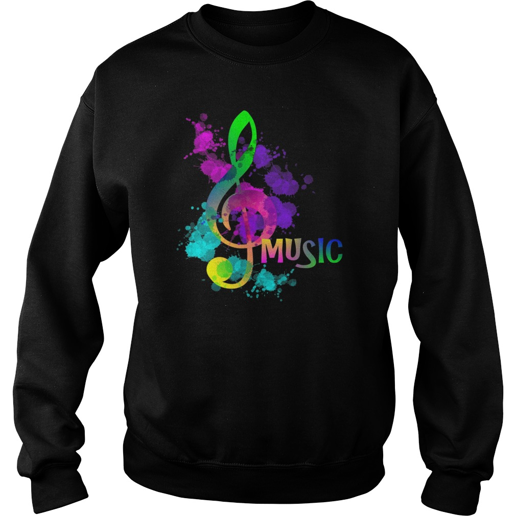 Funky Colorful Music Treble Clef Musical Note Sweater