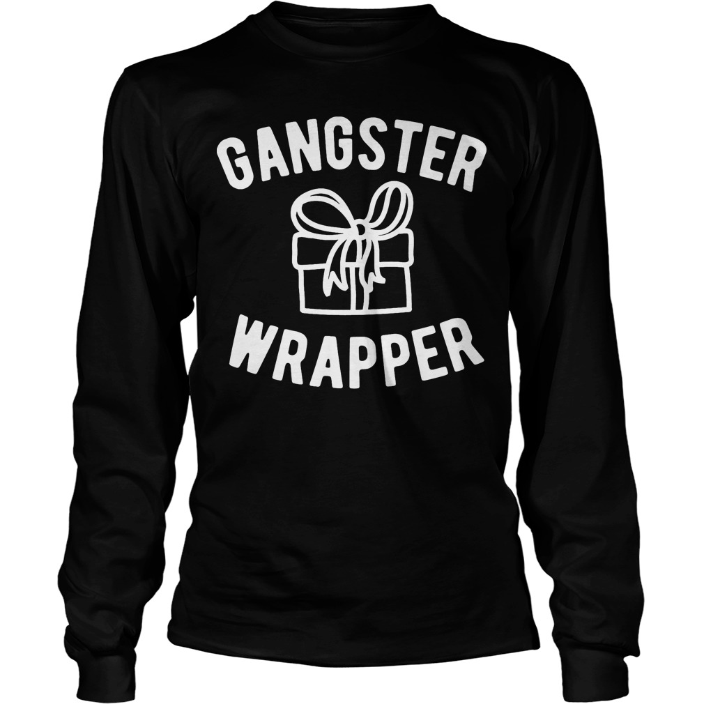 Gangster Wrapper Funny Christmas Longsleeve Tee