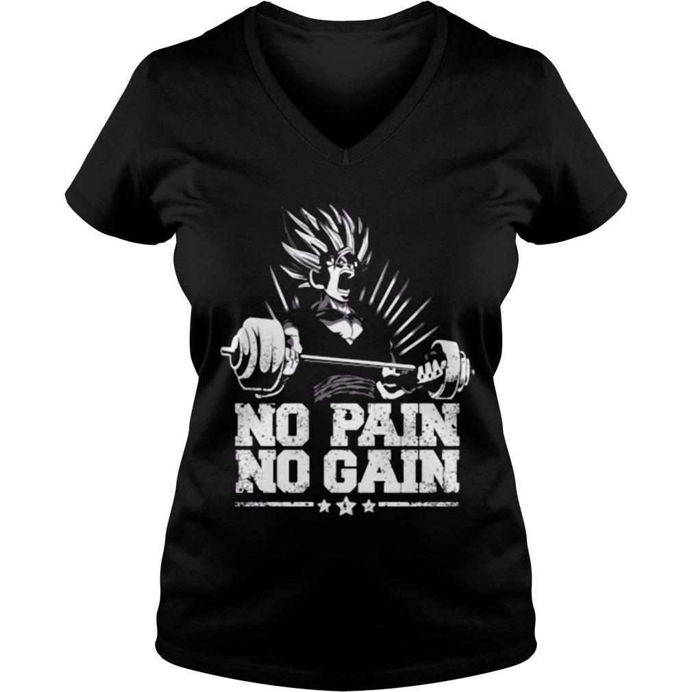 Gohan Super Saiyan No Pain No Gain V Neck T Shirt