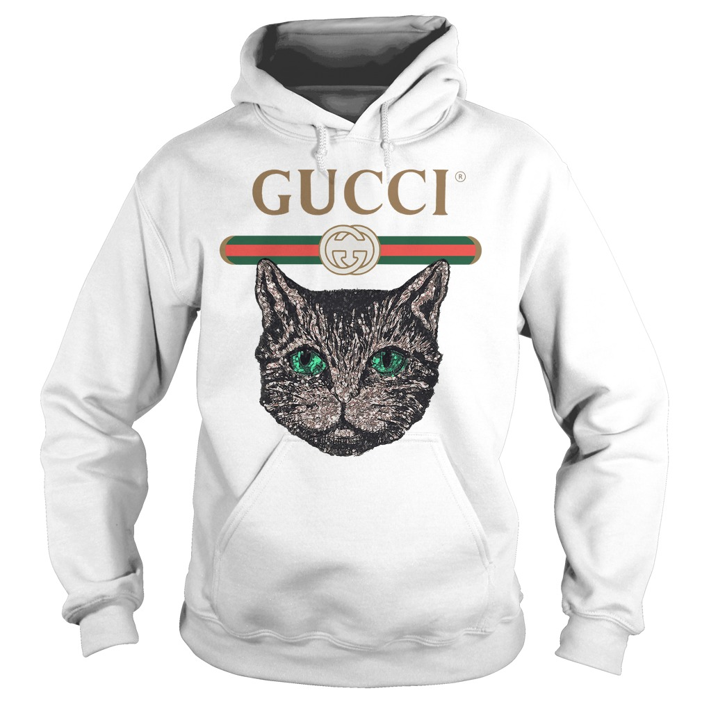 Gucci Logo With Mystic Cat Shirt, Hoodie, Sweater And V Neck T Shirt