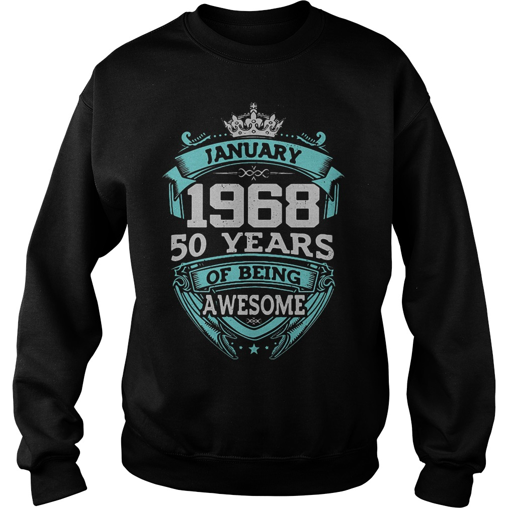 January 1968 50 Years Awesome Sweater