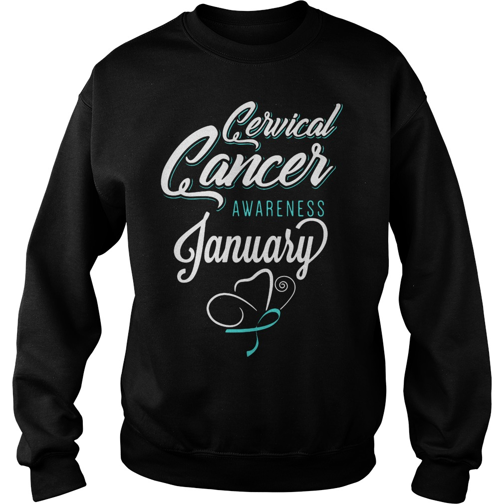 January Cervical Cancer Awareness Month Sweater