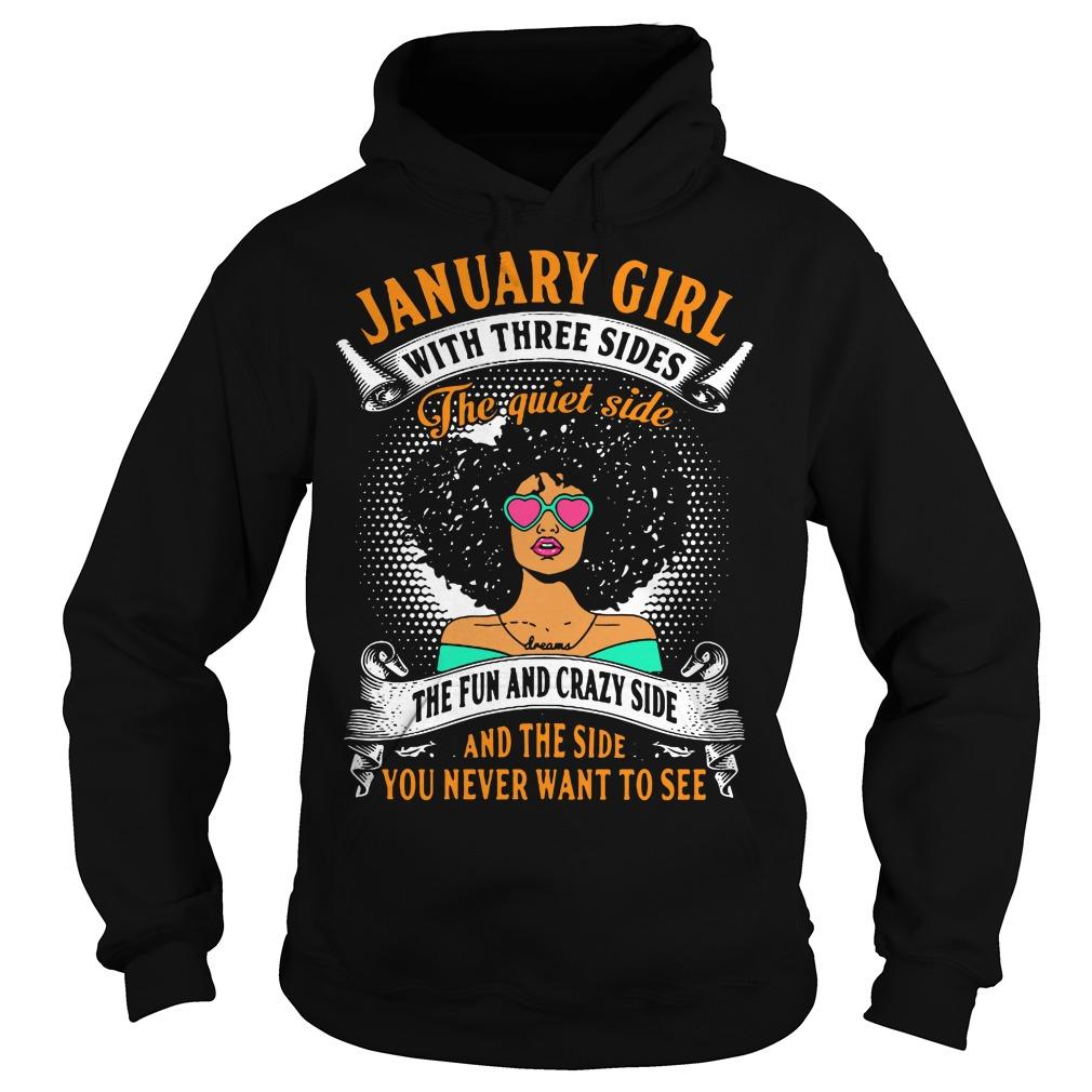 January Girl Three Sides Quiet Side Fun Hoodie