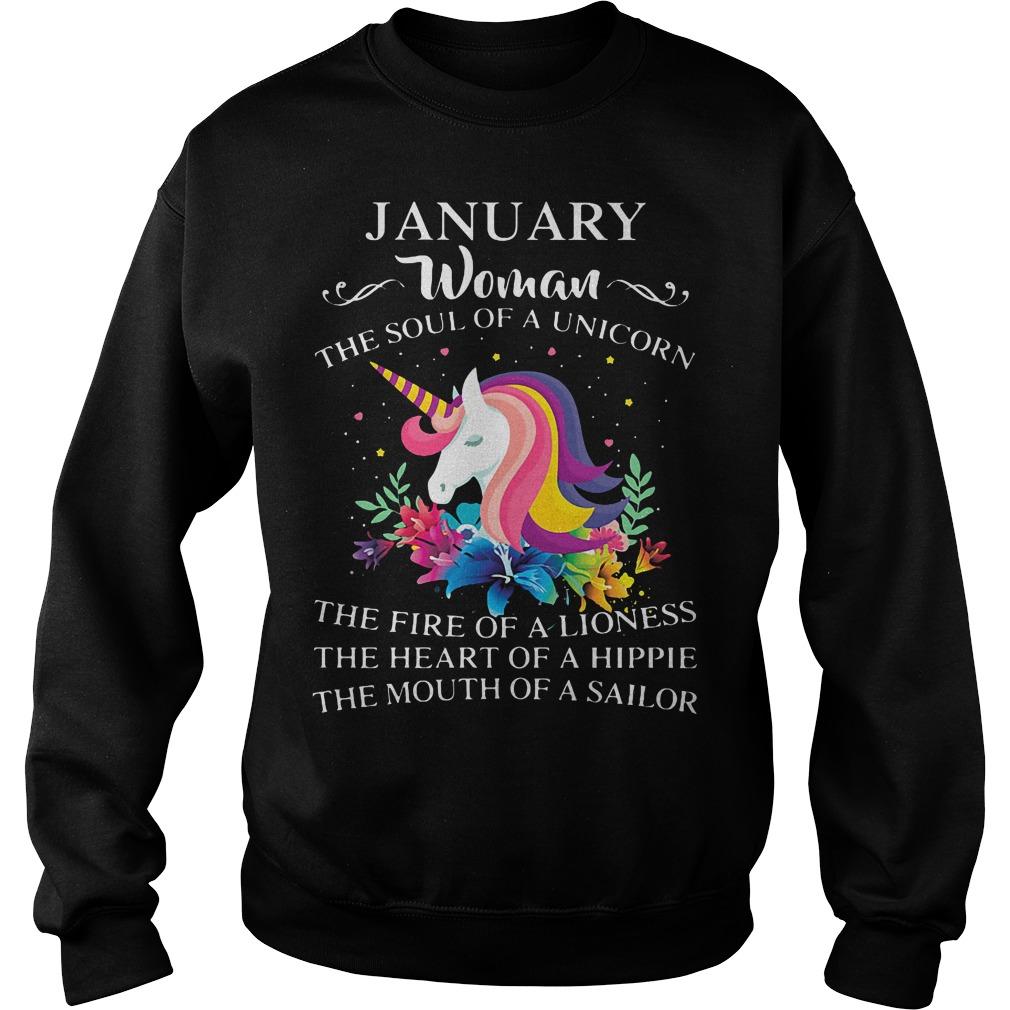 January Woman Soul Unicorn Sweater