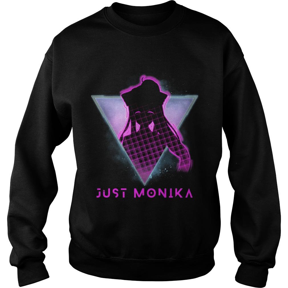 Just Monika Doki Doki Literature Club Futuristic 80s Sweater