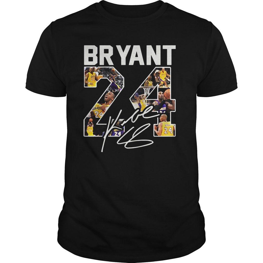 Kobe Bryant 24 Signature Shirt