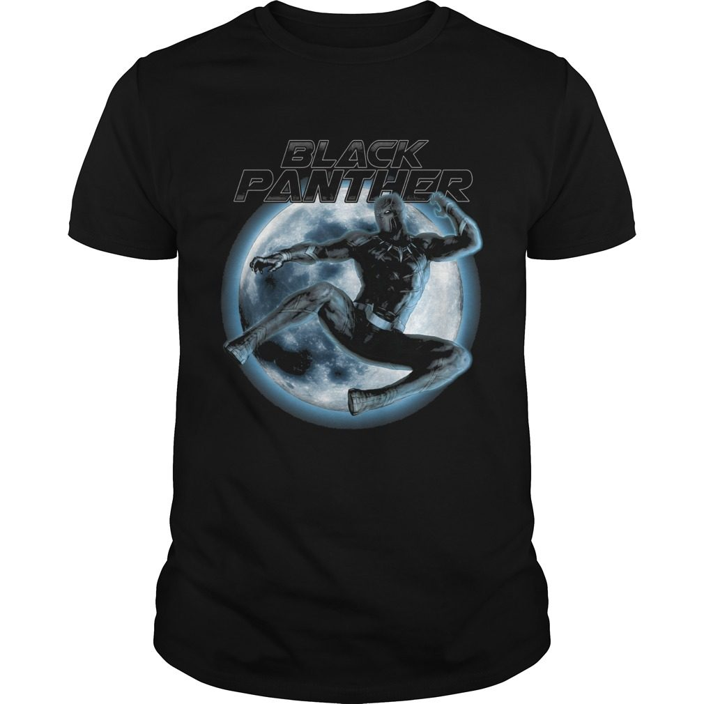 Marvel Black Panther Moonlit Leaping Kick Graphic Shirt