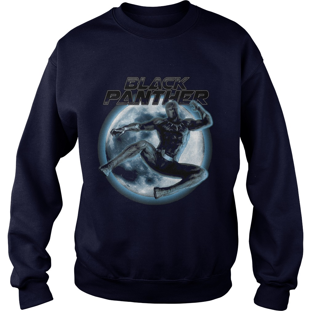 Marvel Black Panther Moonlit Leaping Kick Graphic Sweater