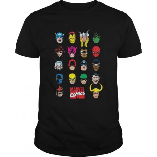 Marvel Hero Portrait Bingo Graphic Shirt