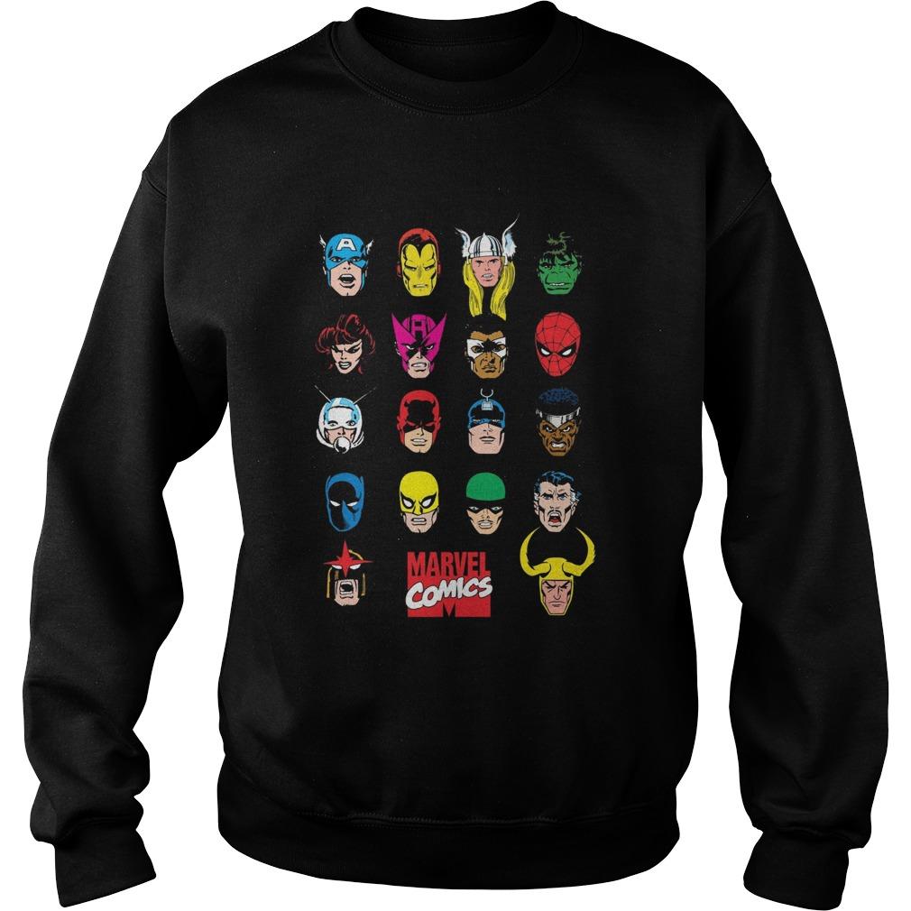 Marvel Hero Portrait Bingo Graphic Sweater